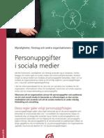 Datainspektionen Faktablad Sociala Medier