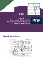 week 4 - binary search - parameter mechanism