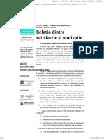 Relatia dintre satisfactie si motivatie