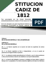 CONSTITUCION DE CADIZ 1812 - ARTICULOS 1-64