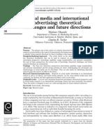 Social media and internationaladvertising -1