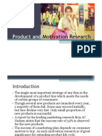 12 Product and Motivation Research