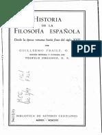 La escolástica en el renacimiento y la renovación de la escolástica en España - G. Fraile y T. Urdanoz