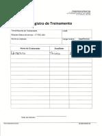 Registro de Treinamento - Eriberto