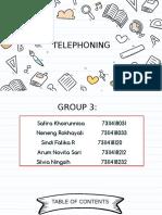 Bahasa Inggris Bisnis Lanjutan - Telephoning