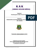 KAK Peningkatan Jalan Provinsi Ruas Jalan Ciruas  Petir  Wr. Gunung