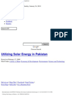 Utilizing Solar Energy in Pakistan _ ALL THINGS PAKISTAN