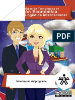 Informacion PROGRAMACION EN ESPECIALIZACION EN LOGISTICA