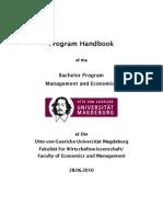 Program-Handbook BSc Manec 2010-06-28