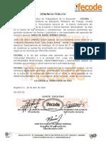 Fecode Rechaza el asesinato del Rector Jairo Jiménez