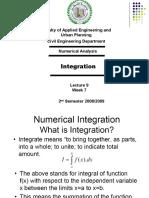 Lecture 9a - Integration