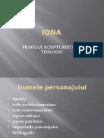 Iona , PROOROCUL