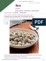 Chana salad recipe, chickpea salad - Raks