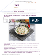 Mixed vegetable raita recipe, Mix veg raita recipe - Raks