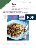 Rajma salad recipe, simple rajma salad - Raks