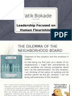 Leadership focused on Human Flourishing(Individual practice with peer evaluation) by Pratik Bokade