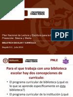 3. Biblioteca y curriculo