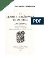 Ciro Giannelli & Andre Vaillant - Un Lexique Macedonien du XVie siecle (Μακεδονικό Λεξικό του 16ου αιώνα) [Institut d' Etudes Slaves de l' Universite de Paris 1958]