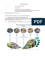 Task 4 Ecological Footprint