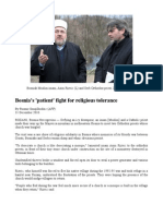 Bosniaks (Bosnian Muslims) Preach Religious Tolerance