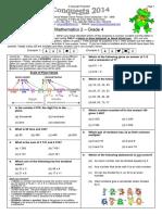 2014 Mathematics 2 gr 4