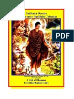 2011 R Burmese Buddhist P.desana Calendar (F))