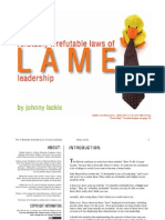 31 Refutably Irrefutable Laws of Lame Leadership