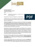 Oficio a Presidencia de La Republica