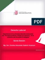 Importancia de los principios laborales destacando los principios protector, in dubio pro operario y de la condición más favorable al trabajador