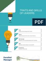 Group 4. Traits & Skills of Leaders