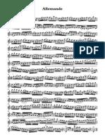 Allemande - Saxofón barítono BERNAL SUITE 1