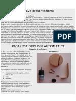 RICARICA OROLOGI AUTOMATICI
