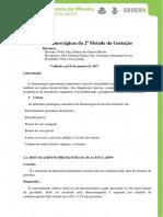 Protocolo Sindromes Hemorragicas da 2ª Metade da Gestacao