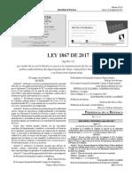 Ley 1867 de 2017 (50 años de vida político-administrativa del departamento del Cesar)