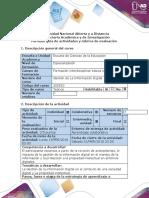Guía de actividades y rubrica de evaluación –Paso 2 - Indagación