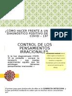 CÓMO HACER FRENTE A UN DIAGNÓSTICO POSITIVO COVID-19