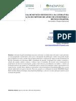 METODOLOGIA DE REVISÃO SISTEMÁTICA DA LITERATURACOM APLICAÇÃO DO MÉTODO DE APOIO MULTICRITÉRIO À DECISÃO SMARTER.