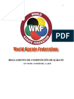 Wkf Competition Rules 2020 Es PDF