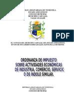 ORDENANZA DE ACTIVIDADES ECONOMICAS 2016