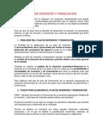 2. PLAN DE INVERSIÓN Y FINANCIACIÓN