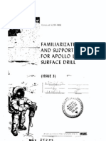 Familiarization and Support Manual for Apollo Lunar Surface Drill ALSD