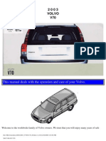 VOLVO V70 2003 User Manual
