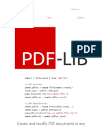 PDF-LIB · Create and modify PDF documents in any JavaScript environment