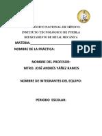 FORMATO DE REPORTE DE PRACTICA CONICIDADES
