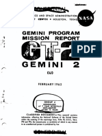 Gemini Program Mission Report Gemini II