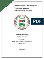 ELECTROFORO Y ELECTROSCOPIO