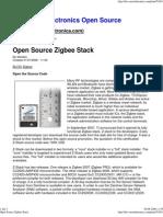 Open Source Zigbee Stack
