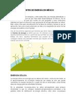 FUENTES DE ENERGÍA EN MÉXICO