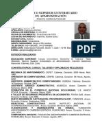 RESUMEN CURRICULAR ANTONIO ESPINOZA