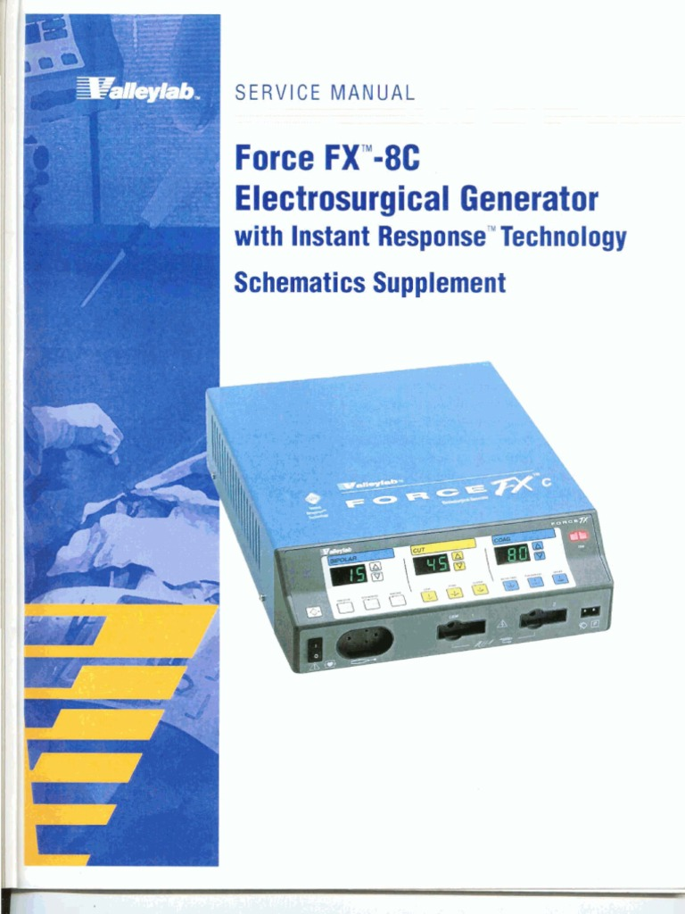 valleylab force fx 8c service manual schematics supplement rh scribd com LigaSure Device Manual LigaSure Device Manual